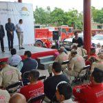 Bomberos de Tonalá trabajan bajo protesta