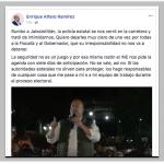 Alfaro denuncia actos de intimidación en viaje a Jalostotitlán