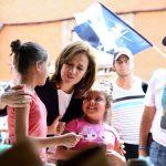 Visita Margarita Zavala a ciudadanos de Morelia, Michoacán