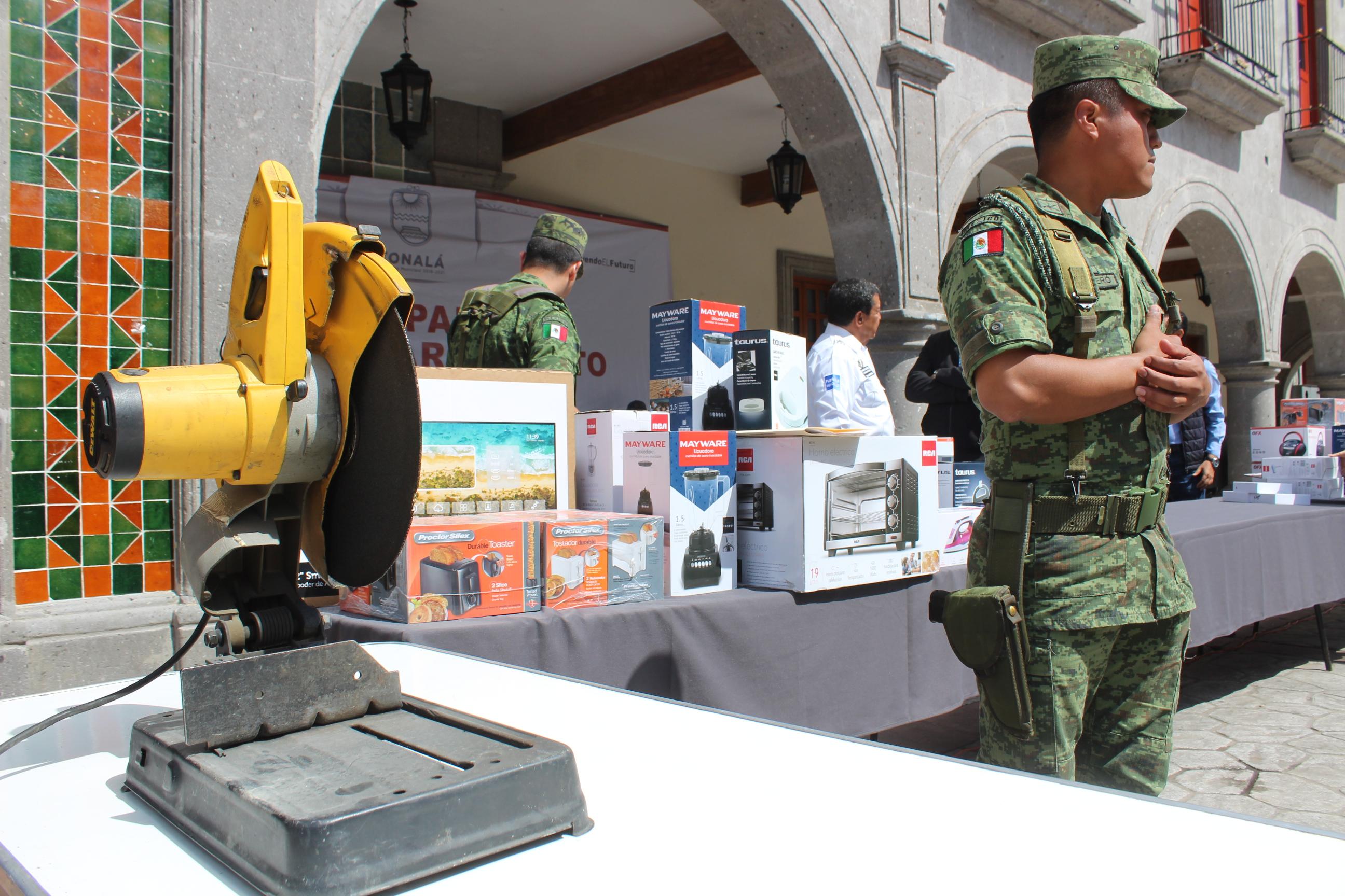Inicia Tonalá canje de armas por ¡electrodomésticos!