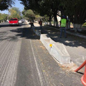 Avanzan obras del corredor ciclista en Chapala